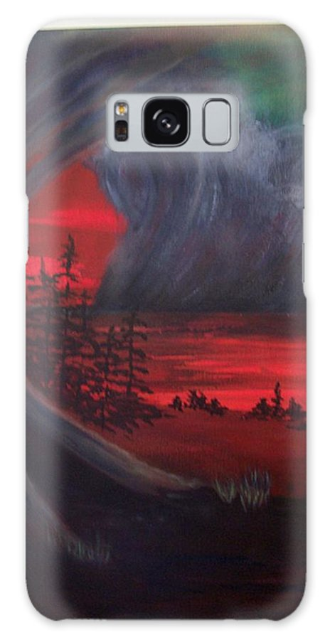 Tempest Galaxy S8 Case featuring the painting The Tempest by Charlotte Seager