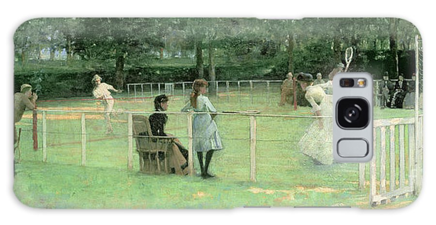 Lawn Galaxy S8 Case featuring the painting The Tennis Party by Sir John Lavery