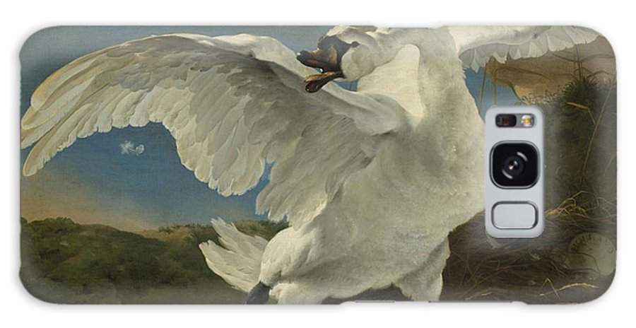 1650 Galaxy S8 Case featuring the painting The Threatened Swan, Jan Asselijn by Quint Lox