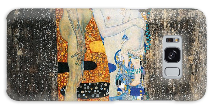 Allegory Galaxy Case featuring the painting The Three Ages Of Woman by Gustav Klimt