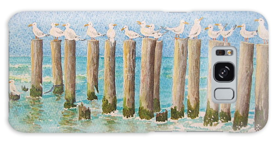 Seagulls Galaxy Case featuring the painting The Town Meeting by Mary Ellen Mueller Legault