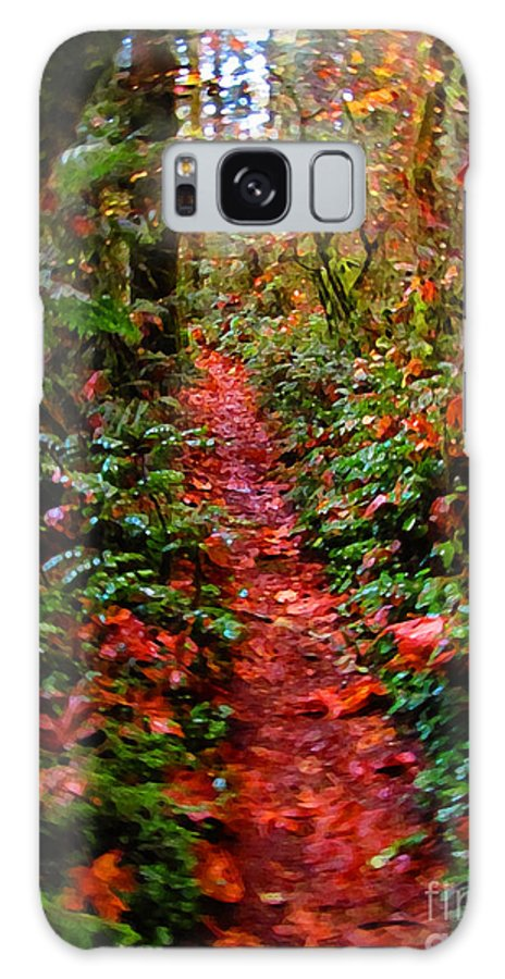 Nature Galaxy S8 Case featuring the photograph The Trail At Rainbow Falls Washington by Ron Tackett