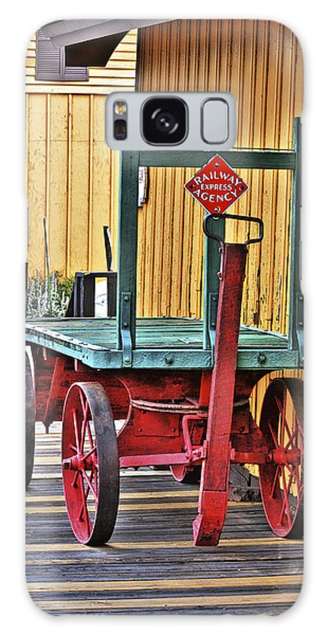 Cart Galaxy S8 Case featuring the photograph The Train Cart by Kennith Gordon