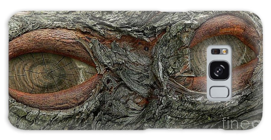 Eye Galaxy S8 Case featuring the photograph The Trees Have Eyes by Angela Wright
