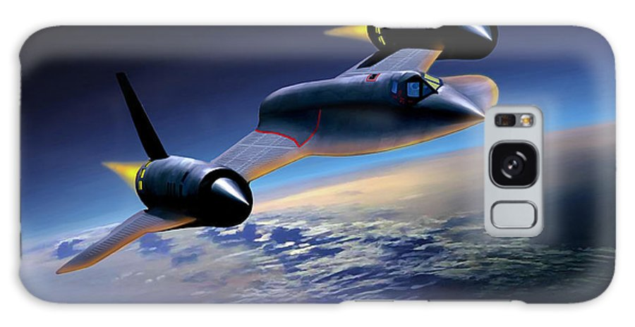 Airplane Galaxy S8 Case featuring the painting The Untouchable Sr-71 Blackbird by Mark Karvon