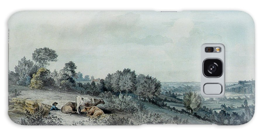 Village Galaxy S8 Case featuring the photograph The Valley Of The Stour, Looking Towards East Bergholt, 1880 Pencil, Pen And Ink And Watercolour by John Constable