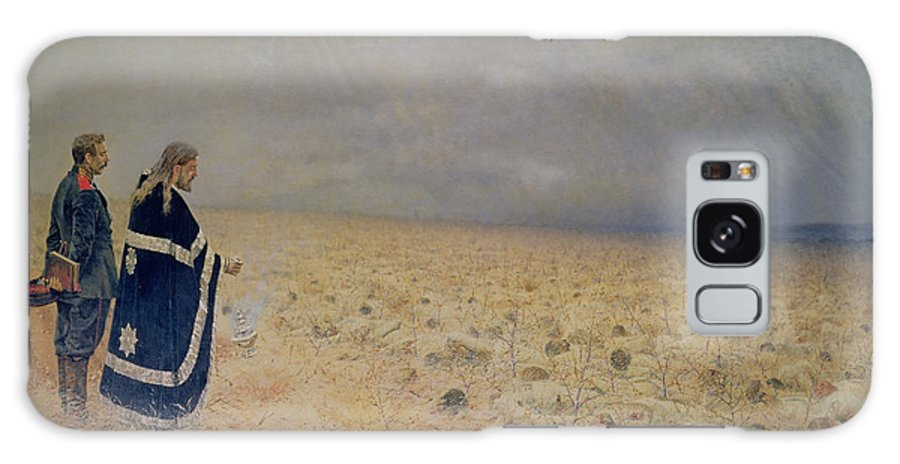 Battle Of Telish Galaxy S8 Case featuring the photograph The Vanquished. Requiem For The Dead, 1878-79 Oil On Canvas by Vasili Vasilievich Vereshchagin