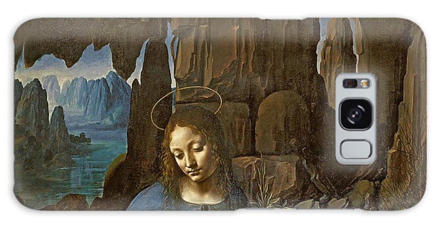 Rocks Galaxy S8 Case featuring the painting The Virgin Of The Rocks by Leonardo da Vinci