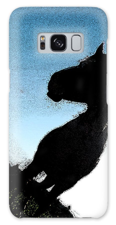 Horse Galaxy S8 Case featuring the photograph The Visiter by Kathy Sampson