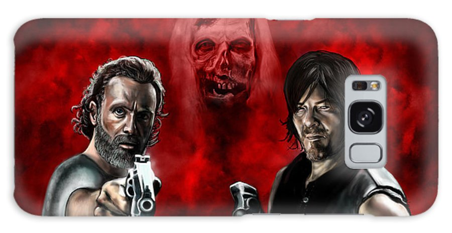 Rick Grimes Galaxy S8 Case featuring the painting The Walking Dead by Vinny John Usuriello
