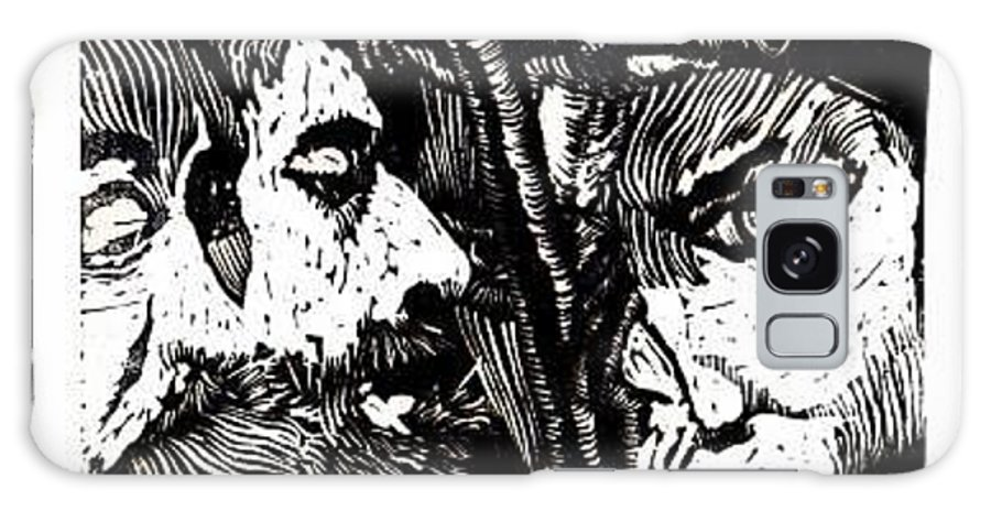 Spectators At The Crucifiction Of Jesus Christ Galaxy S8 Case featuring the relief The Watchers Of Death by Seth Weaver