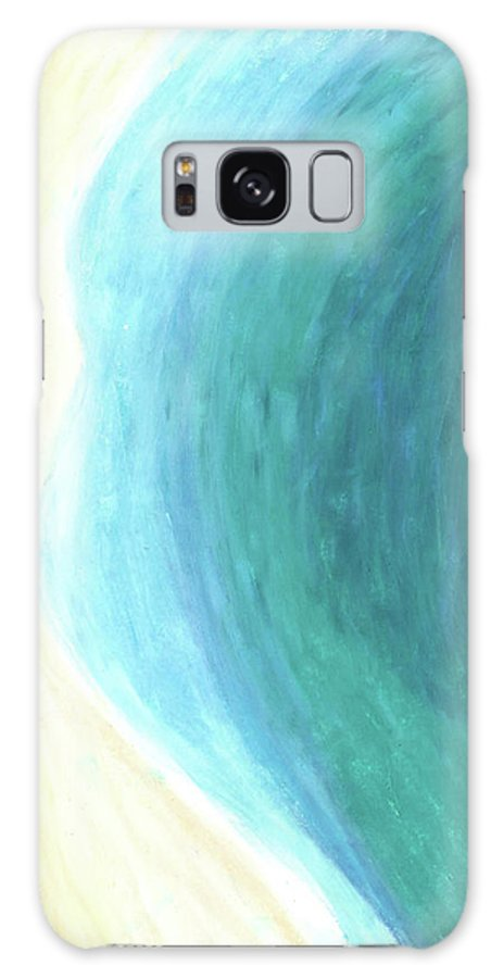 Ocean Galaxy S8 Case featuring the painting The Waters Edge by Carrie MaKenna