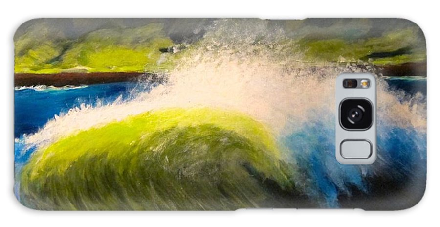 Waves Galaxy S8 Case featuring the painting The Wave by Kathryn Barry