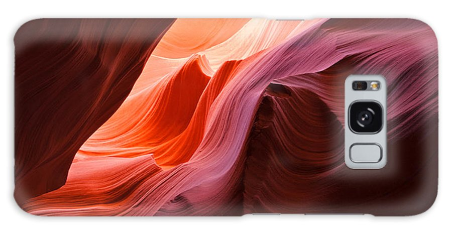 Landscape Galaxy S8 Case featuring the photograph The Waves At Antelope Canyon by Alex Cassels