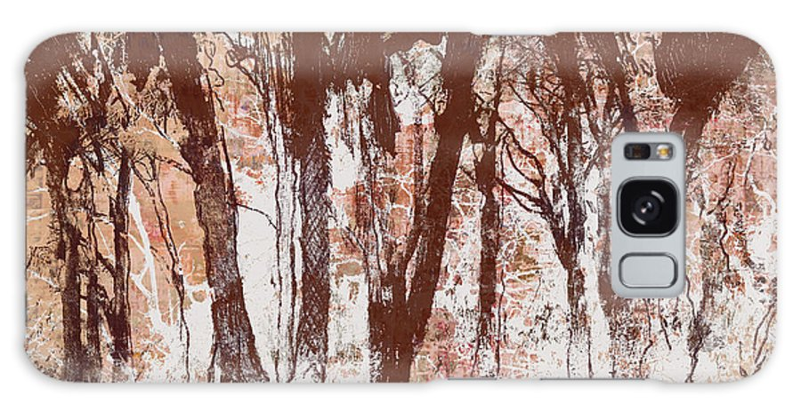 Landscape Galaxy S8 Case featuring the painting The Way Through The Woods 2 by Alan Hopwood