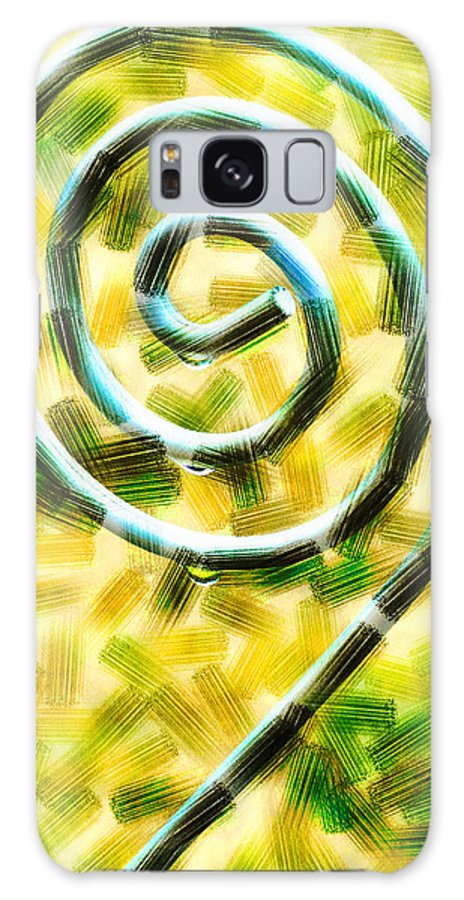 Metal Galaxy S8 Case featuring the digital art The Wet Whirl by Steve Taylor