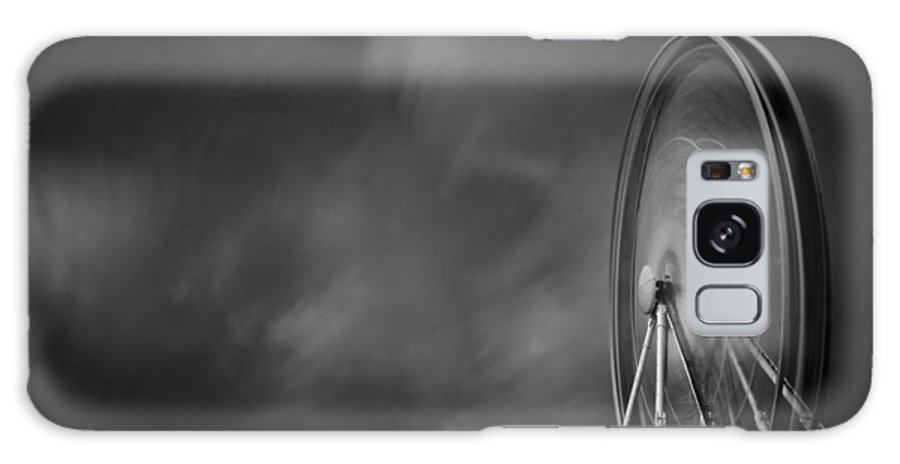 Black And White Galaxy S8 Case featuring the photograph The Wheel by Barry Chignell