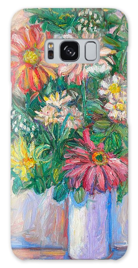 Still Life Galaxy S8 Case featuring the painting The White Vase by Kendall Kessler