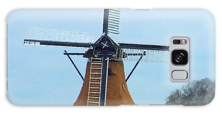 Windmill Galaxy S8 Case featuring the painting The Windmill by J Morgan Massey