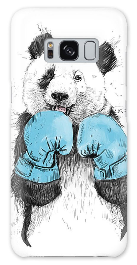 Panda Galaxy Case featuring the digital art The Winner by Balazs Solti