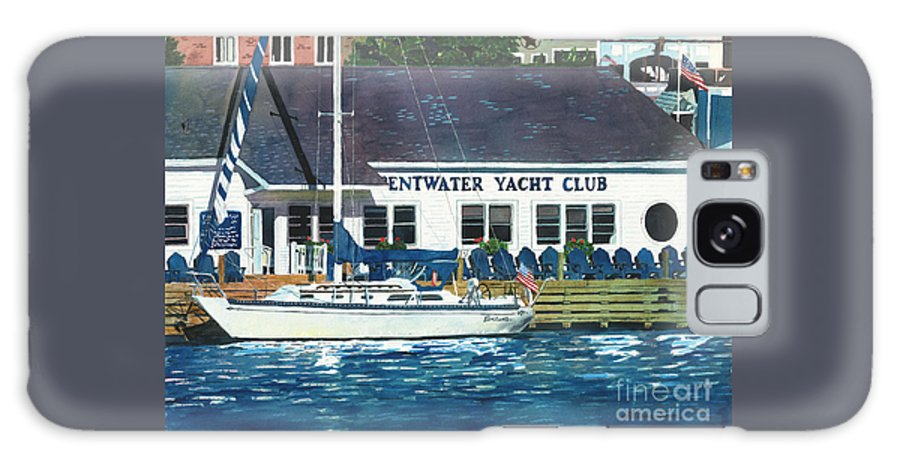 Pentwater Galaxy S8 Case featuring the painting The Yacht Club by LeAnne Sowa