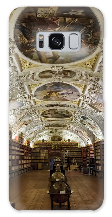 Joan Carroll Galaxy S8 Case featuring the photograph Theological Hall Strahov Monastery by Joan Carroll