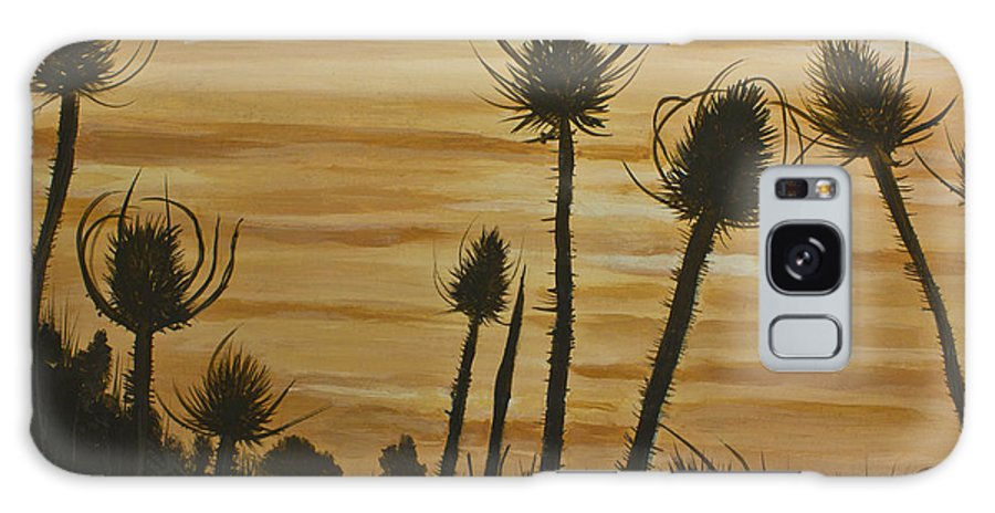 Thistles Galaxy S8 Case featuring the painting Thistles At Sunset by Jennifer Fritz