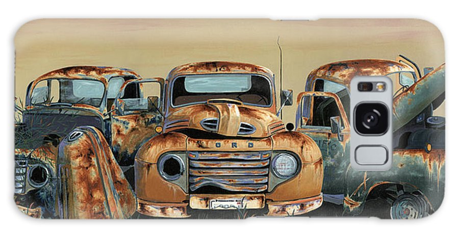 Truck Galaxy Case featuring the painting Three Amigos by John Wyckoff