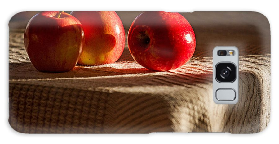 Apples Galaxy S8 Case featuring the photograph Three Apples by Warrena J Barnerd