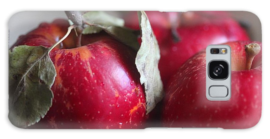 Apples Galaxy S8 Case featuring the photograph Three Apples by Yumi Johnson