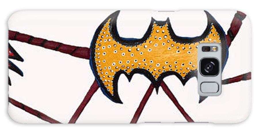 Batman Galaxy S8 Case featuring the sculpture Three Bat Signals by Robert Margetts