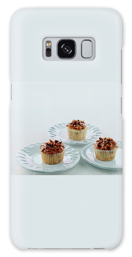 Cooking Galaxy S8 Case featuring the photograph Three Cranberry Cupcakes by Romulo Yanes