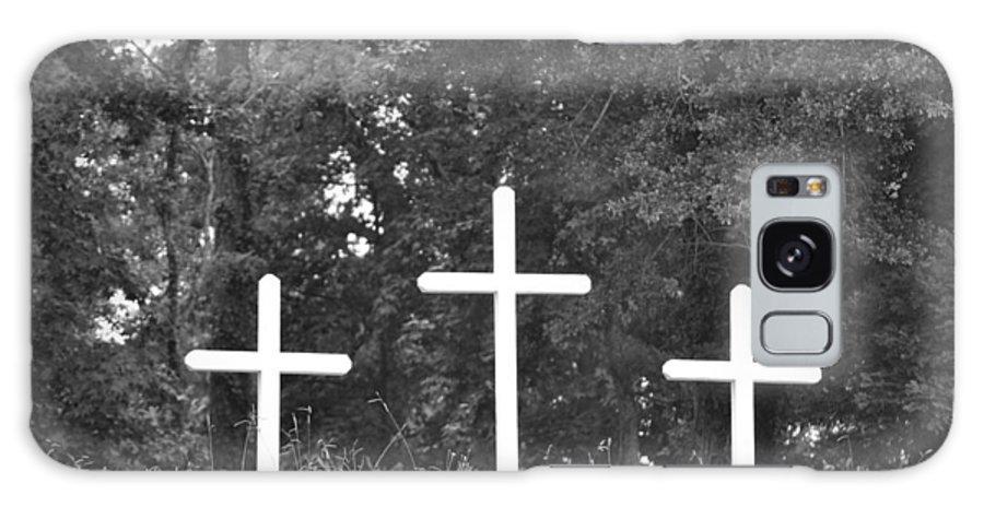 Cross Galaxy S8 Case featuring the photograph Three Crosses by Tara Potts