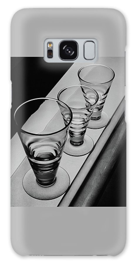 Home Accessories Galaxy S8 Case featuring the photograph Three Glasses On A Shelf by Martin Bruehl