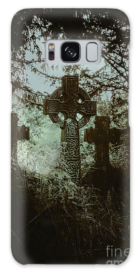 Cemetery Galaxy S8 Case featuring the photograph Three Gone by Margie Hurwich