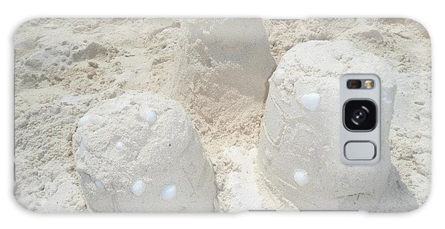Three Galaxy S8 Case featuring the photograph Three Sand Castles by Ciara Williams