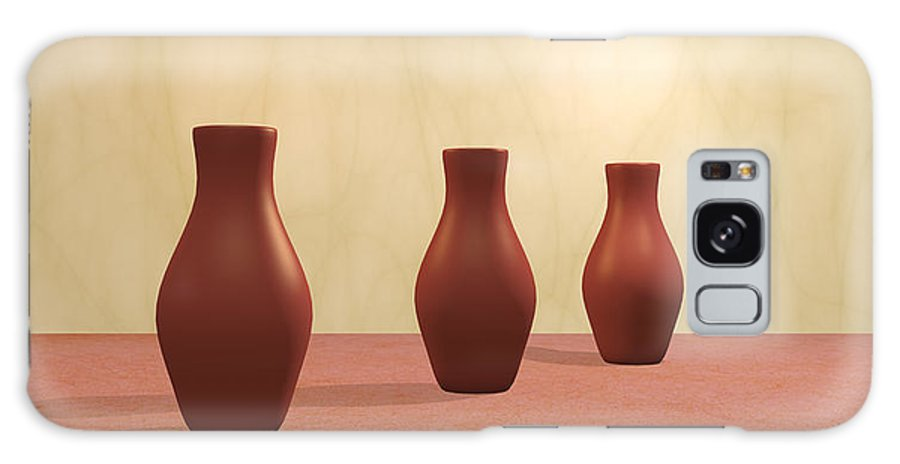 Decorative Galaxy S8 Case featuring the digital art Three Vases by Gabiw Art