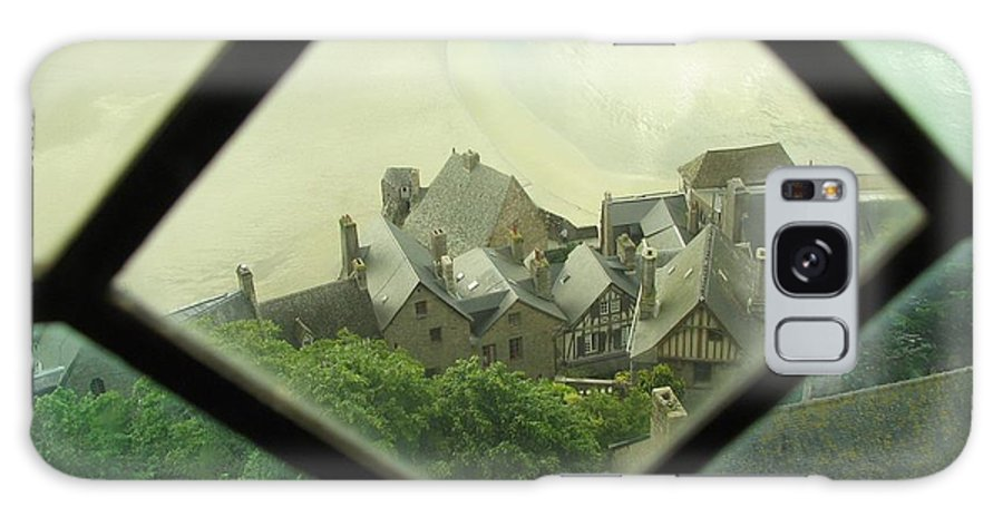 Le Mont St-michel Galaxy Case featuring the photograph Through A Window To The Past by Mary Ellen Mueller Legault