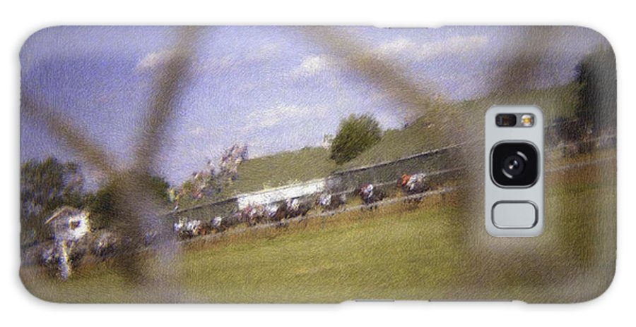 Kentucky Derby Galaxy S8 Case featuring the photograph Through The Fence Pastel Chalk 2 by David Lange