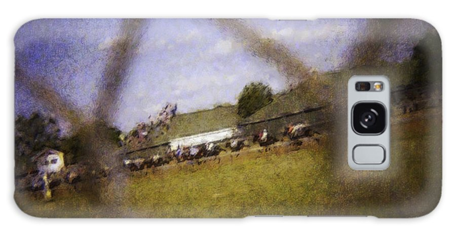 Kentucky Derby Galaxy S8 Case featuring the photograph Through The Fence Water Color by David Lange