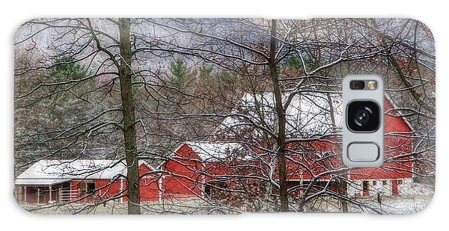 Barn Galaxy S8 Case featuring the photograph Through The Trees by Stephanie Calhoun