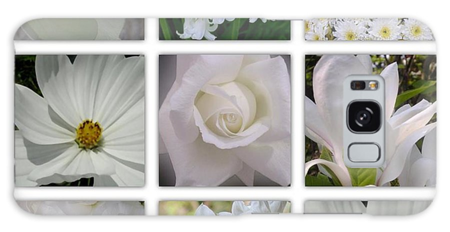 White Flowers Galaxy S8 Case featuring the photograph Through The White Picture Window by Joan-Violet Stretch