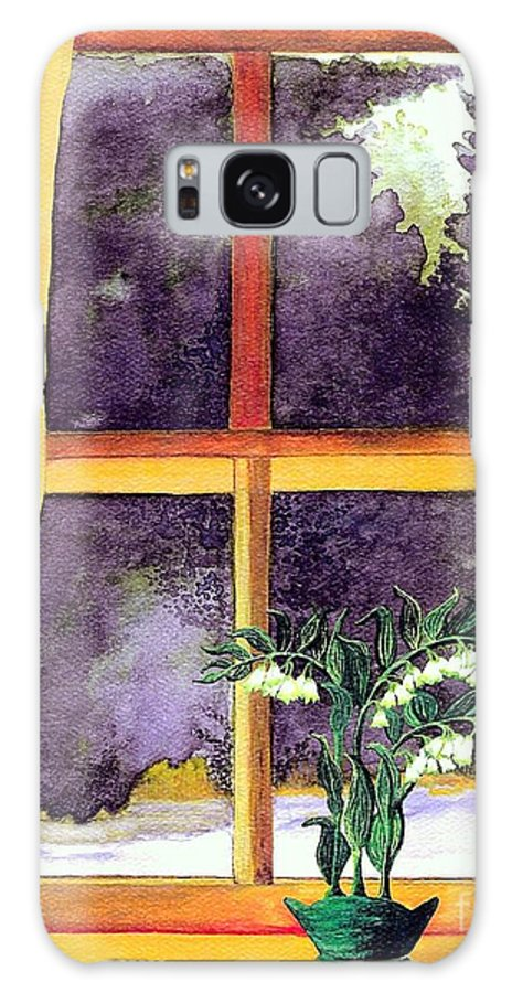 Fine Art Galaxy S8 Case featuring the painting Through The Window by Patricia Griffin Brett