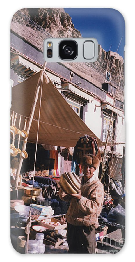 First Star Galaxy S8 Case featuring the photograph Tibet Market At Gyantse By Jrr by First Star Art