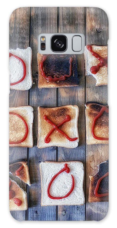 Toast Galaxy S8 Case featuring the photograph Tic Tac Toe by Joana Kruse