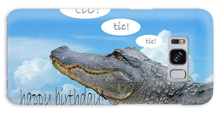 Birthday Card Galaxy S8 Case featuring the digital art Tic Tic Tic by Lizi Beard-Ward