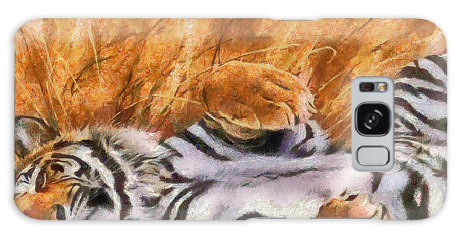 Tiger Galaxy S8 Case featuring the painting Tiger - Big Cat by Georgi Dimitrov