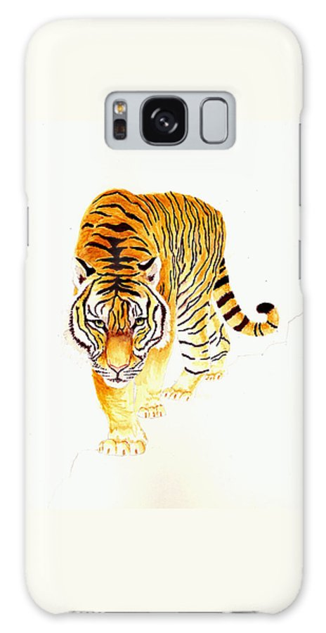 Tiger Galaxy S8 Case featuring the painting Tiger by Michael Vigliotti