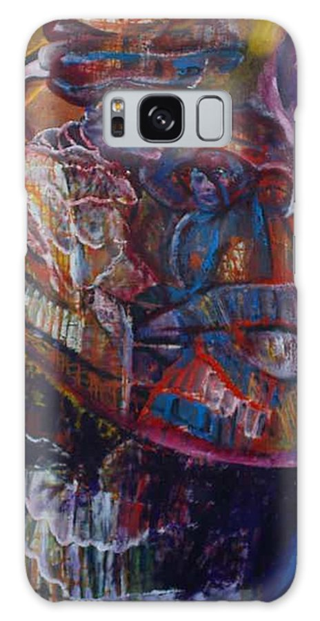African Women Galaxy Case featuring the painting Tikor Woman by Peggy Blood