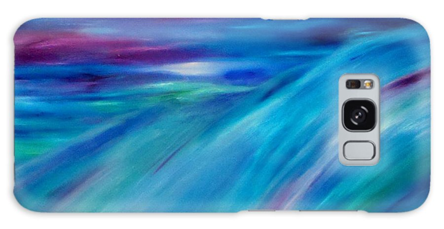 Abstract Galaxy S8 Case featuring the painting Time Passages. Inner-view Series by Tracy Evans